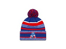 New England Patriots Striped Marled Knit Hat