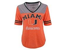 Miami Hurricanes Women's Mr Big V-Neck T-Shirt