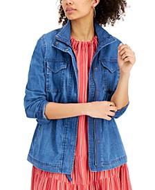 Chambray Twill Jacket, Created for Macy's
