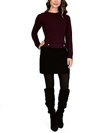 Juniors' Crewneck Sweater Dress