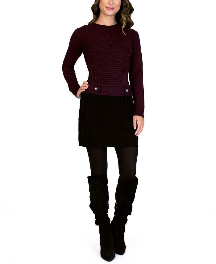 BCX - Juniors' Crewneck Sweater Dress