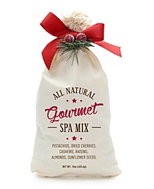 Gourmet Spa Snack Mix Natural Cottton Gift Bag