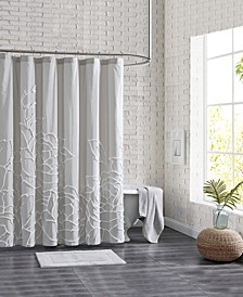 "Chenille Rose Shower Curtain, 72"" x 72"""