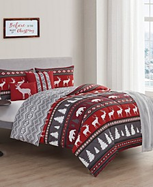 Crescent Lodge Queen Comforter Set, 6 Piece