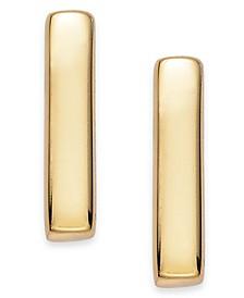 18k Gold over Sterling Silver Bar Stud Earrings
