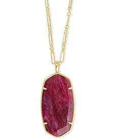 """Faceted Illusion Stone Long Pendant Necklace, 30"""" + 2"""" extender"""
