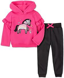 Baby Girls 2-Pc. Zebra Hoodie & Pants Set