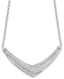Wrapped in Love™ Diamond Pave-Set Crossover Necklace in Sterling Silver (1 ct. t.w.), Created for Macy's
