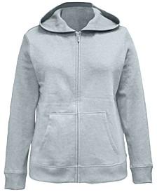 Petite Fleece Zip-Up Hoodie, Created for Macy's