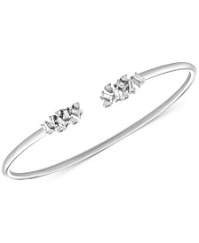 Diamond Scatter Cuff Bangle Bracelet (1/4 ct. t.w.) in 10k White Gold