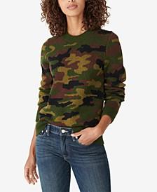 Camo-Print Intarsia Sweater