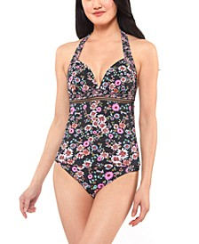 Posy Fields Halter Tankini Top & Bottoms