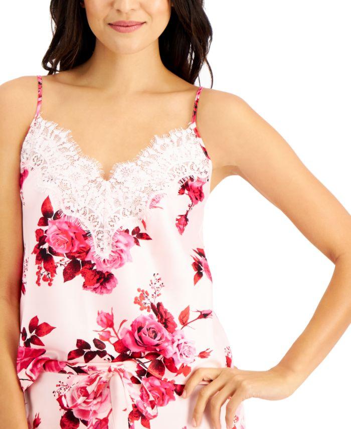 INC International Concepts INC Floral-Print Lace-Trim Cami & Shorts Sleep Set, Created for Macy's & Reviews - Bras, Panties & Lingerie - Women - Macy's