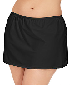 Island Escape Plus Size Swim Skirt, Created for Macy's