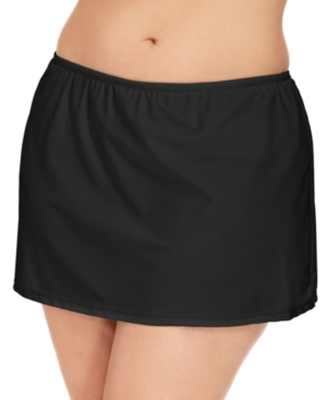 Island Escape Plus Size Swim Skirt, Created for Macy's Women's Swimsuit