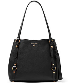 Michael Michael Kors Carrie Large Leather Shoulder Tote