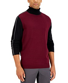 Men's Stripe Turtleneck Sweater, Created for Macy's