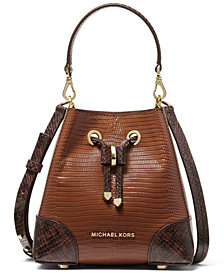 Michael Michael Kors Mercer Gallery Extra Small Leather Convertible Bucket Bag