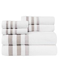 Crinkle Towel Set, 6 Pieces