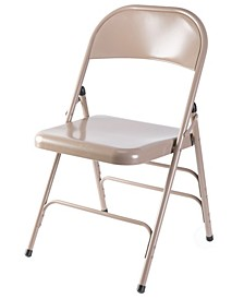 Full Metal Curved Triple Braced Folding Chair