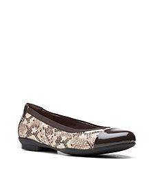 Clarks Collection Women's Sara Orchid Ballet Flat Shoes