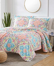 Georgetown Archer 3-Piece Reversible Quilt Set, Queen