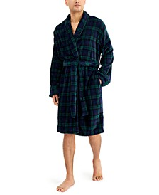 Men's Plaid Plush Robe, Created for Macy's