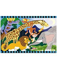 Melissa and Doug Kids Toy, Safari Social 24-Piece Floor Puzzle