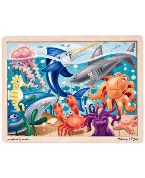 Melissa and Doug Kids Toy Under the Sea 24Piece Jigsaw Puzzle