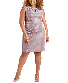 R & M Richards Plus Size Metallic Dress