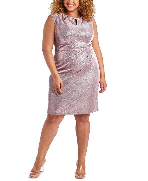 R & M Richards Plus Size Metallic Dress