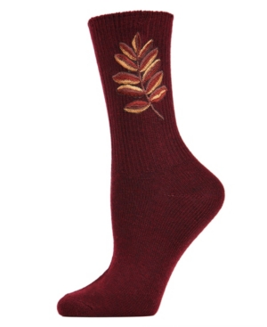Golden Leaf Vintage-like Women's Crew Socks