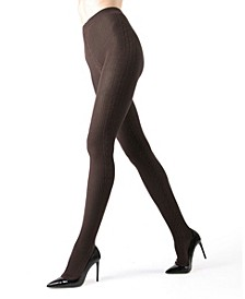 Side Cable Sweater Women's Tights