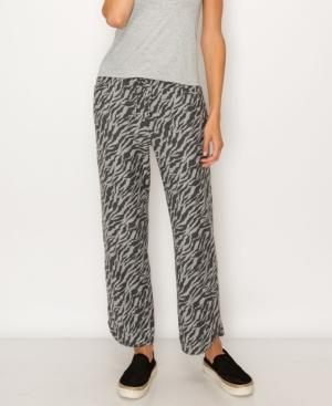 1804 Women's Zebra French Terry Vent Hem Pocket Pant