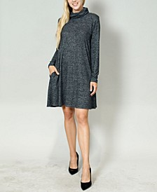 Women's Cozy Built-In Mask Swing Dress