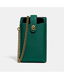 Polished Pebble Turnlock Chain Phone Crossbody