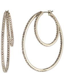 Pavé Double Hoop Earrings