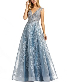 Embellished Embroidered Ball Gown