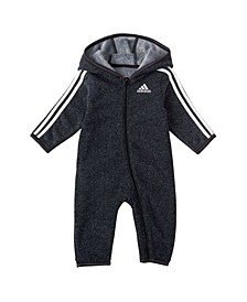 Baby Boys Fleece Hooded Coverall