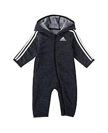 Baby Boys Fleece Hooded Coverall