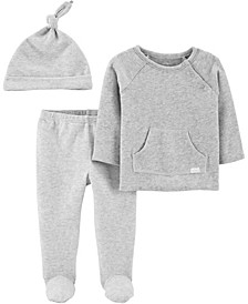 Carters Baby Boy or Girl 3-Piece Tee & Footed Pant Set