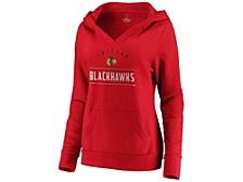 Chicago Blackhawks NHL Women's Leader V-Neck Fleece Sweatshirt