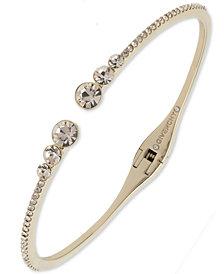 Givenchy Pavé Open Cuff Bracelet