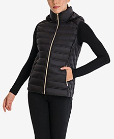 Packable Down Hooded Vest