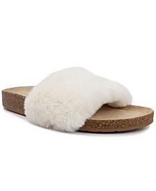 Women's Bravoes Fuzzy Slide Sandals