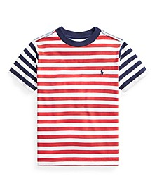 Toddler Boys Striped Cotton Jersey T-shirt