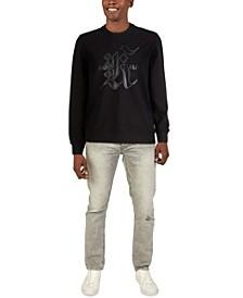 Men's Long Sleeve Gothic Logo French Terry Sweatshirt