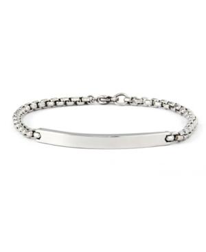 Men's Round Box Link Id Bracelet