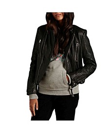 Women's Classic Leather Racer Jacket