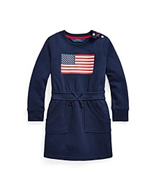 Toddler and Little Girls Flag Blend Fleece Dress
